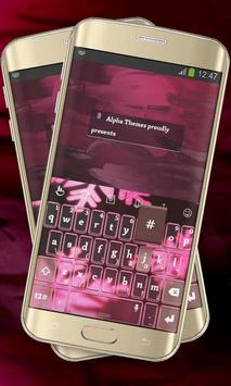 Pink Flakes Keypad Cover poster