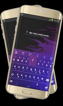 Purple Blue Keypad Cover poster