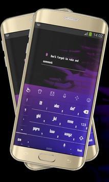Purple Blue Keypad Cover apk screenshot