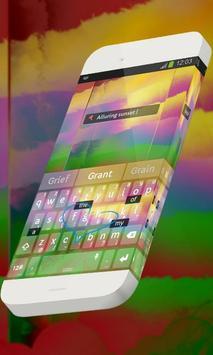 Alluring sunset Keypad Theme apk screenshot