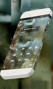 Blissful rain Keypad Theme apk screenshot