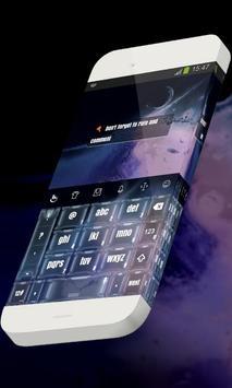 Blueish galaxy Keypad Theme apk screenshot