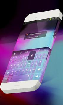 Bluish purple Keypad Theme poster