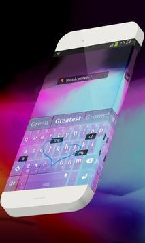Bluish purple Keypad Theme apk screenshot