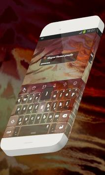 Brick red Keypad Theme poster