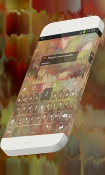 Colored waterfall Keypad Theme poster