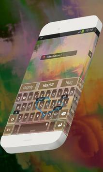 Colorful dream Keypad Theme apk screenshot