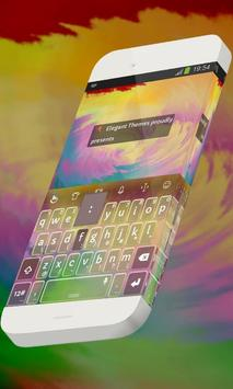 Creamy purple Keypad Theme poster