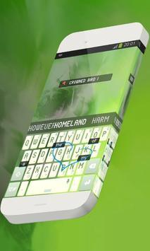 Crowned bird Keypad Theme apk screenshot