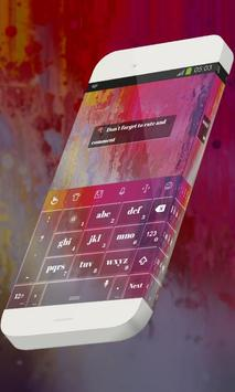 Hanging flower Keypad Theme apk screenshot