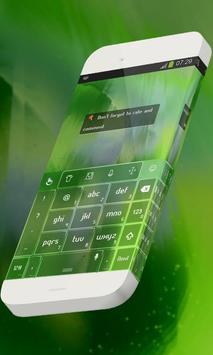 Joyful green Keypad Theme apk screenshot