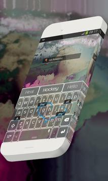 Lit flowers Keypad Theme apk screenshot