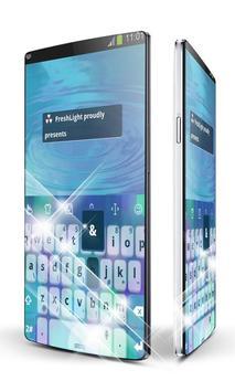 Aquamarine blue Keypad Art poster