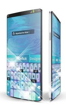 Aquamarine blue Keypad Art apk screenshot