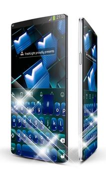 Digital Blue Keypad Art poster