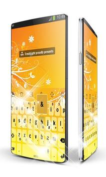 Orange Flowers Keypad Art apk screenshot