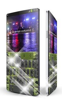 Night port Keypad Art poster