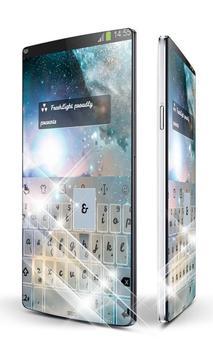 Shiny Galaxy Keypad Art poster