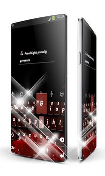 Red and Black Keypad Art poster
