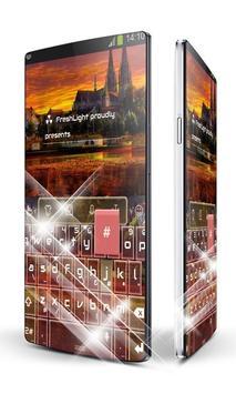 Red castle Keypad Art poster