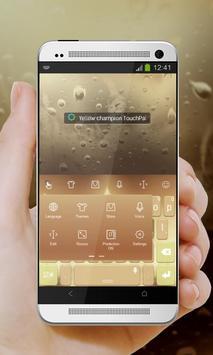 Yellow champion Keypad Design apk screenshot