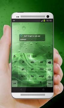 Green Flame Keypad Design apk screenshot