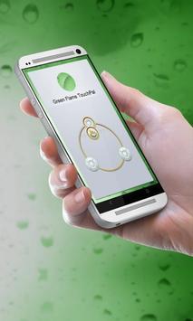 Green Flame Keypad Design poster