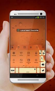 Lava heart Keypad Design apk screenshot