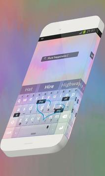 Pure happiness Keypad Skin apk screenshot