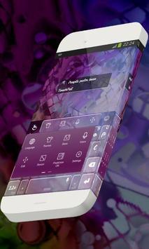 Purple palm trees Keypad Skin apk screenshot