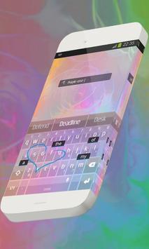 Purple rose Keypad Skin apk screenshot