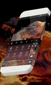 Phoenix flames Keypad Skin apk screenshot