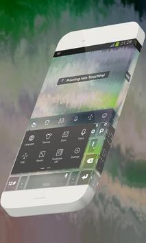 Pouring rain Keypad Skin apk screenshot