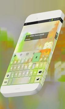 Raw green Keypad Skin apk screenshot