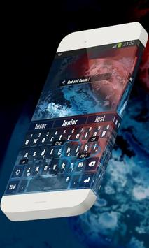 Red and denim Keypad Skin screenshot 2