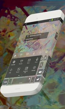 Reddish roots Keypad Skin apk screenshot
