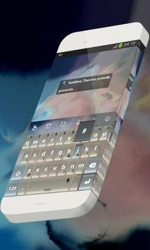 Stars lit sky Keypad Skin poster