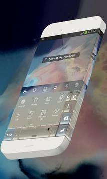 Stars lit sky Keypad Skin apk screenshot