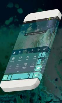 Stormy waves Keypad Skin apk screenshot
