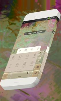 Strings of grass Keypad Skin apk screenshot