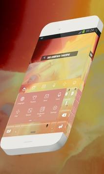 Sun embrace Keypad Skin apk screenshot