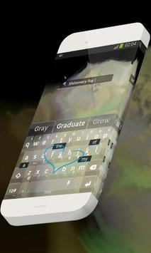 Shimmery fog Keypad Skin apk screenshot