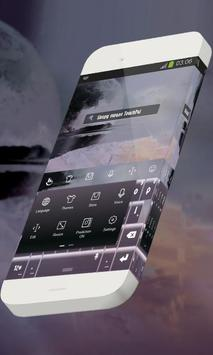 Sleepy swans Keypad Skin apk screenshot