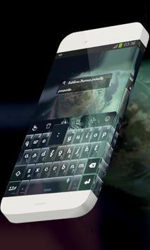 Space spheres Keypad Skin poster
