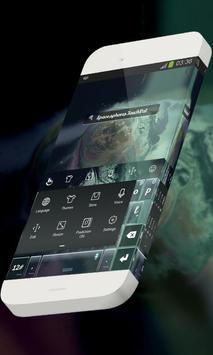 Space spheres Keypad Skin apk screenshot