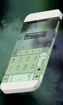 Umbrella Hologram Keypad Skin apk screenshot