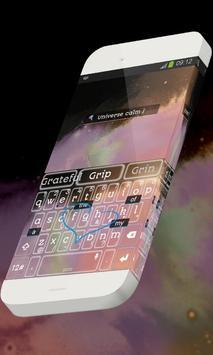 Universe calm Keypad Skin apk screenshot