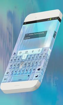 Water particle Keypad Skin poster