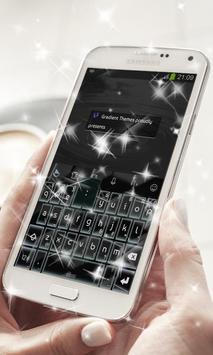 Black Blocks Keyboard Theme apk screenshot
