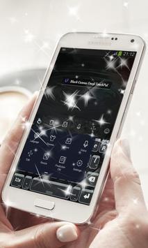 Black Canvas Keyboard Theme apk screenshot